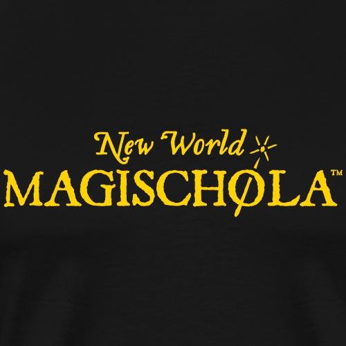 New World Magischola w/ Wand - Wide - Men's Premium T-Shirt