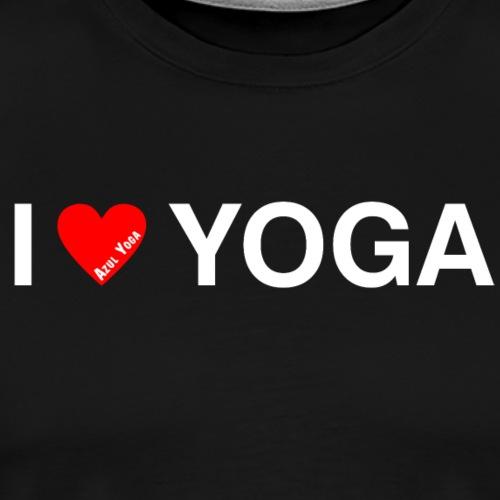I LOVE YOGA WH - Men's Premium T-Shirt