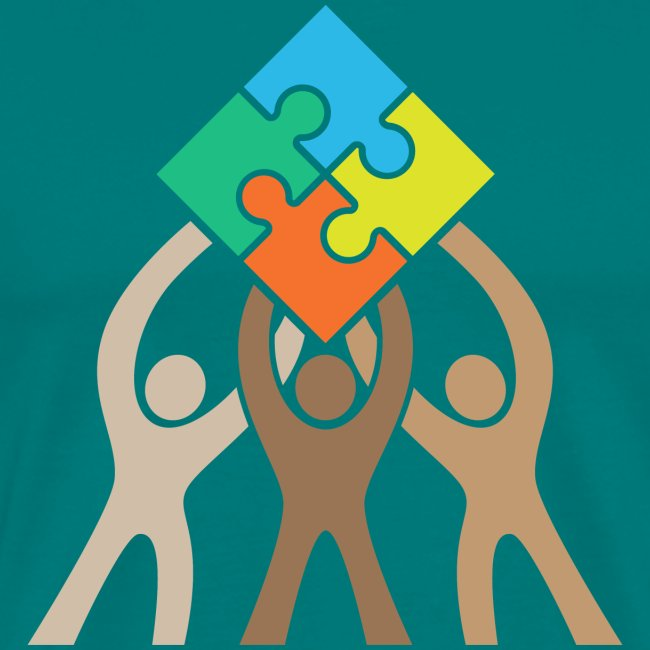 Teamwork and Unity Jigsaw Puzzle Logo