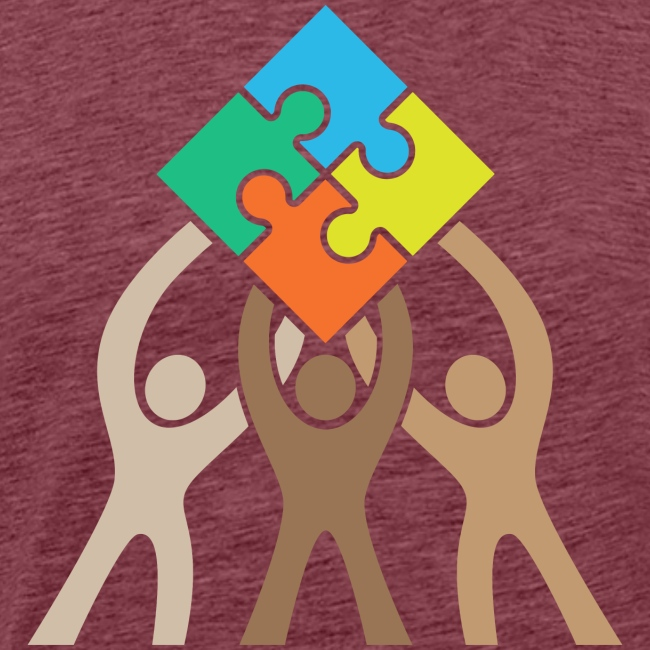 Teamwork and Unity Jigsaw Puzzle Logo