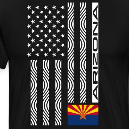 Modern US State Flag T-Shirt: ARIZONA - Men's Premium T-Shirt