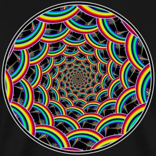 Rainbow Swirl of Psychedelic Rings - Men's Premium T-Shirt