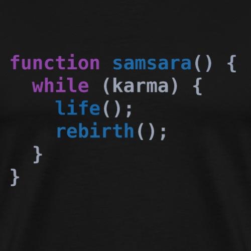 Funny T-Shirt: Samsara in JavaScript   Programmer - Men's Premium T-Shirt
