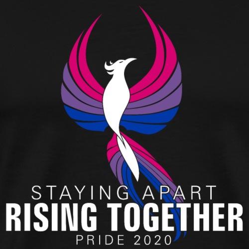 Bisexual Staying Apart Rising Together Pride 2020 - Men's Premium T-Shirt