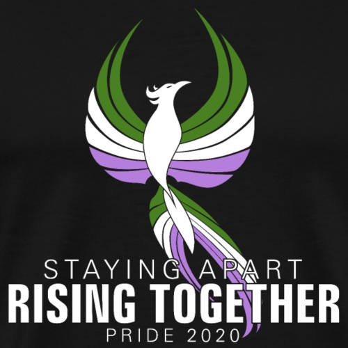 Genderqueer Staying Apart Rising Together Pride - Men's Premium T-Shirt