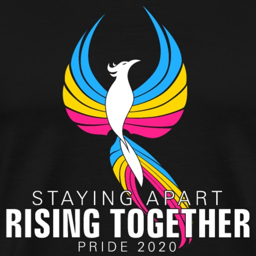 Pansexual Staying Apart Rising Together Pride - Men's Premium T-Shirt