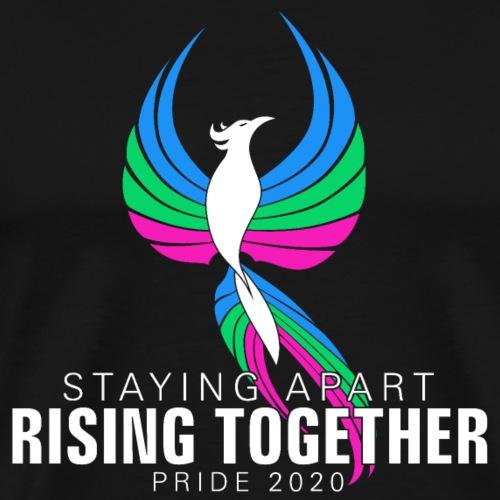 Polysexual Staying Apart Rising Together Pride - Men's Premium T-Shirt