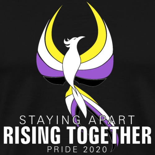 Nonbinary Staying Apart Rising Together Pride - Men's Premium T-Shirt