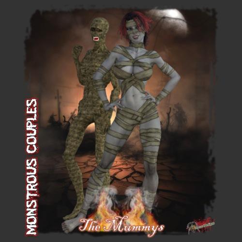 Monstrous Couples: Mummys - Men's Premium T-Shirt