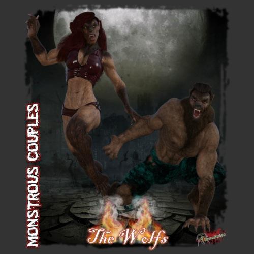 Monstrous Couples: Wolfs - Men's Premium T-Shirt