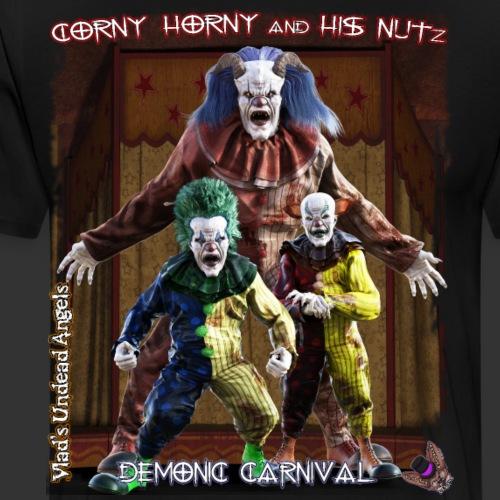 Demonic Carnival Corny Horny And His Nutz - Men's Premium T-Shirt