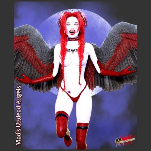 Undead Angels By Moonlight: Vamp Cupid Scarlet 2 - Men's Premium T-Shirt
