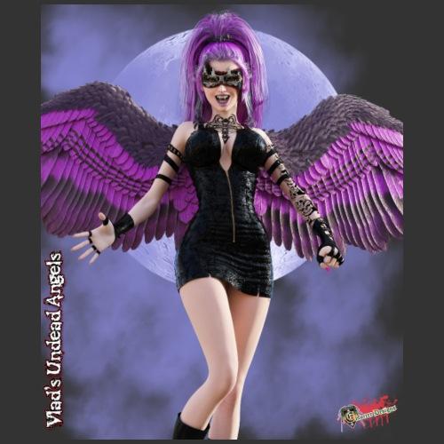 Undead Angels By Moonlight: Vampire Luna Lilac - Men's Premium T-Shirt