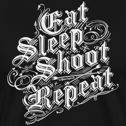 Eat Sleep Shoot Repeat BLW (Archery by BOWTIQUE) - Men's Premium T-Shirt