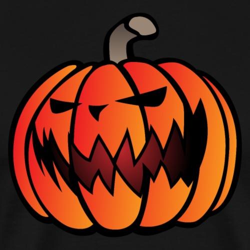 Halloween Scary Pumpkin Cartoon Illustration - Men's Premium T-Shirt