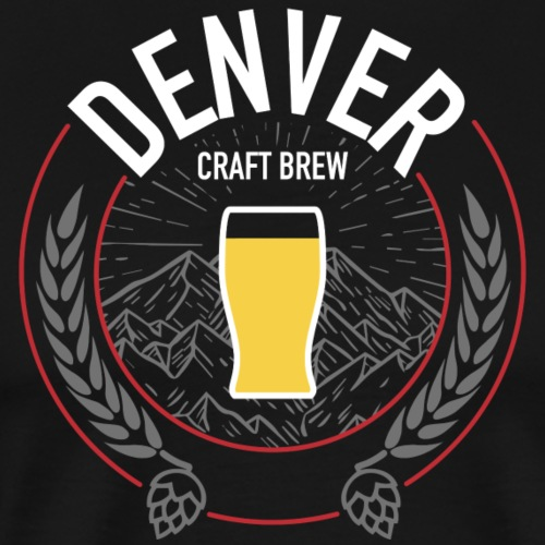 Denver Craft Brew Gray Mtns - Men's Premium T-Shirt