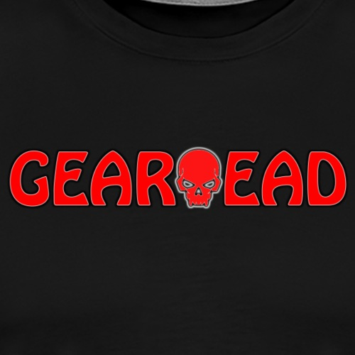 GEARHEAD Logo with Skull - Men's Premium T-Shirt