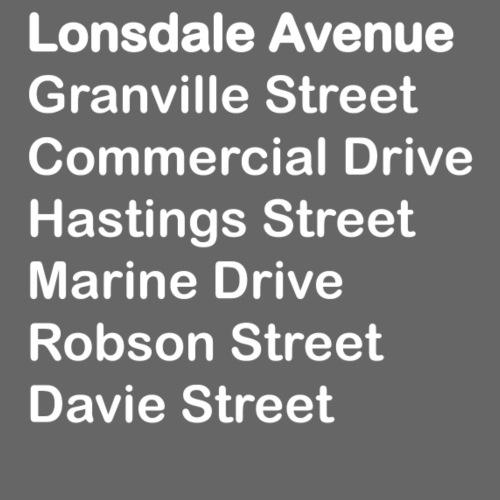 Street Names White Text