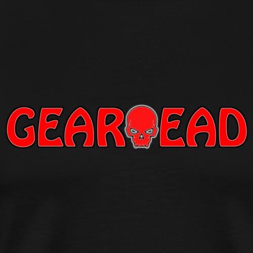 GEARHEAD Logo with Skull - Men's Premium T-Shirt