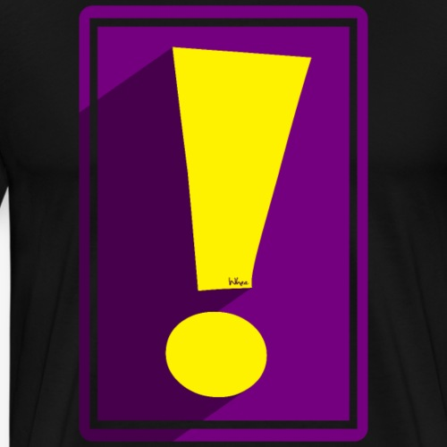 Purple Whee! Shadow Exclamation Point - Men's Premium T-Shirt