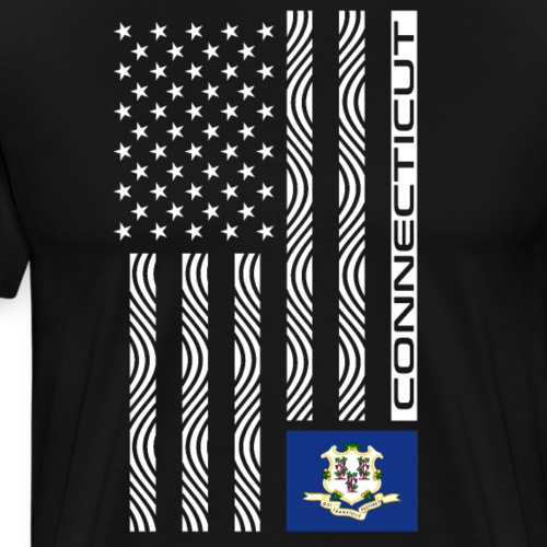 Modern US State Flag T-Shirt: CONNECTICUT - Men's Premium T-Shirt