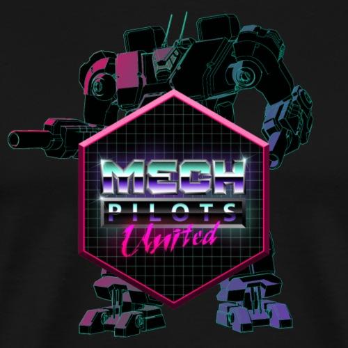 Mech Pilots United - Neon - Men's Premium T-Shirt