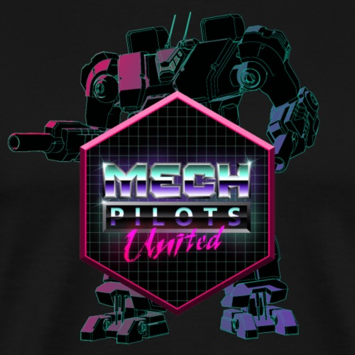 Mech Pilots United - Neon - Men's Premium T-Shirt