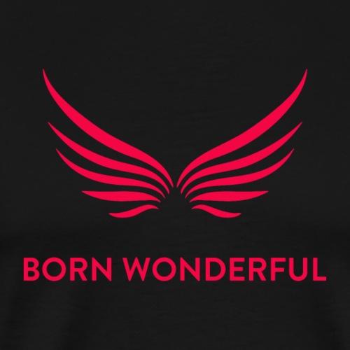 Red Born Wonderful Logo - Men's Premium T-Shirt