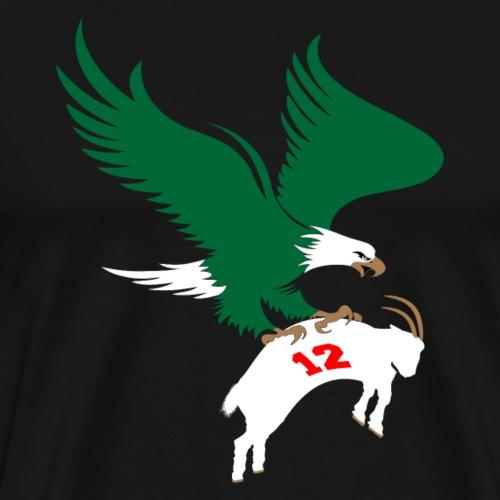 Eagle Beats The Goat - Men's Premium T-Shirt