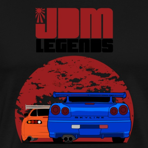 JDM Legends Nissan Skyline GTR R34 & Toyota Supra - Men's Premium T-Shirt