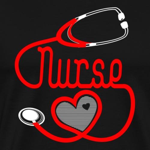 Nurses Heart design - Men's Premium T-Shirt
