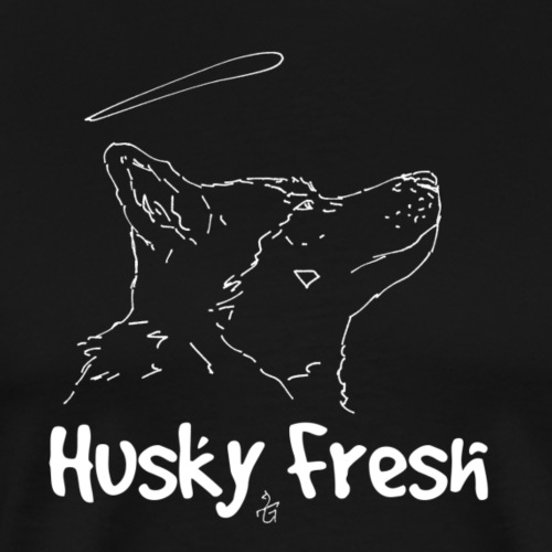 Dog Shirt   Husky Fresh 4th White - Men's Premium T-Shirt
