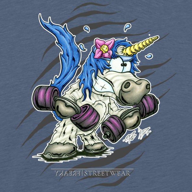 Train like a unicorn blue