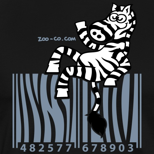 Deep heather Zebra Code Women's T-Shirts - Men's Premium T-Shirt