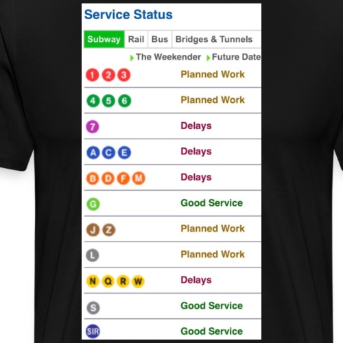 MTA Status - Men's Premium T-Shirt