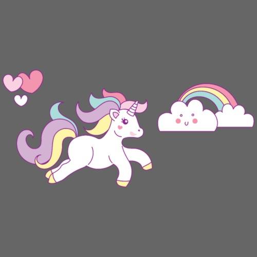 Unicorn, Unicorns, Farytale, Girls, Love, Glitter - Men's Premium T-Shirt
