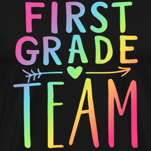 First Grade Team Neon Rainbow Teacher T-Shirts - Men's Premium T-Shirt