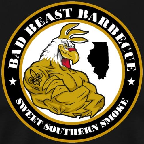 Bad Beast Barbecue Logo - Men's Premium T-Shirt