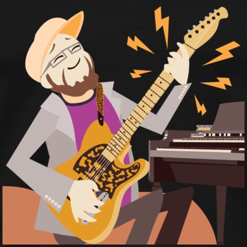 Dan Spiffy Neuman Music Logo #2 no BG #4 - Men's Premium T-Shirt