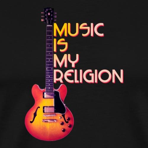 music is my religion - Men's Premium T-Shirt