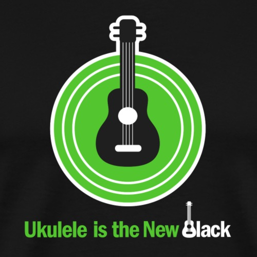 Ukulele Is The New Black - For dark background - Men's Premium T-Shirt