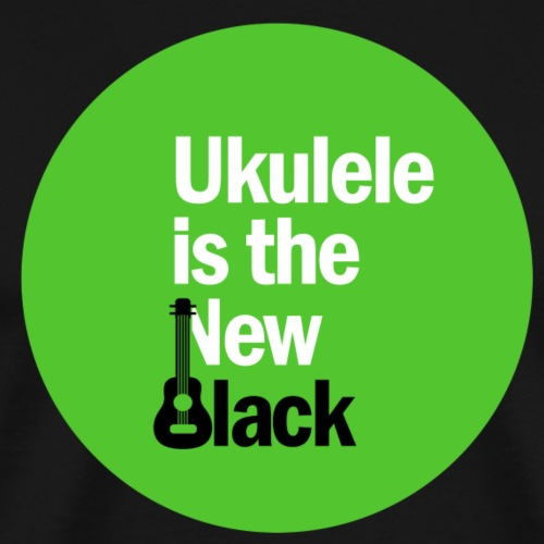 Ukulele Is The New Black Circular Podcast Logo - Men's Premium T-Shirt