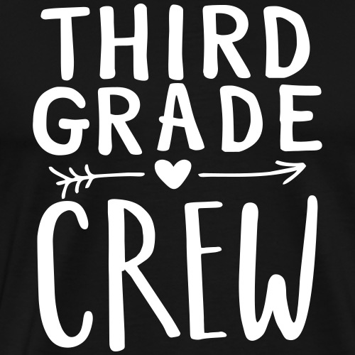 Third Grade Crew Heart Teacher T-Shirts - Men's Premium T-Shirt