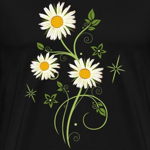 Tendril with Daisies, Marguerites - Men's Premium T-Shirt