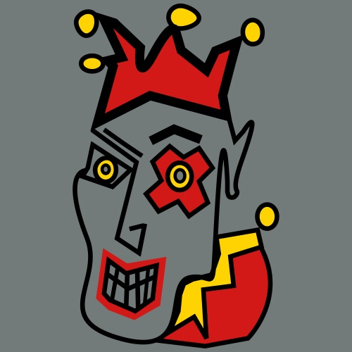 Crazy Jester by Brian Benson for light backgrounds - Men's Premium T-Shirt