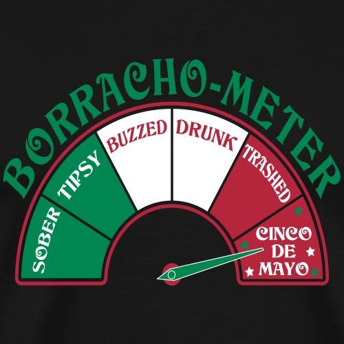 Cinco de Mayo Borracho Meter - Men's Premium T-Shirt