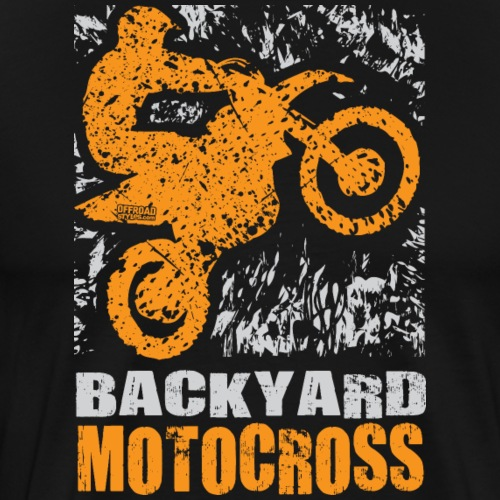 Motocross Backyard Orange - Men's Premium T-Shirt