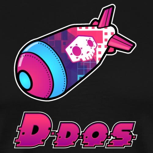DDoS Text Logo - Men's Premium T-Shirt