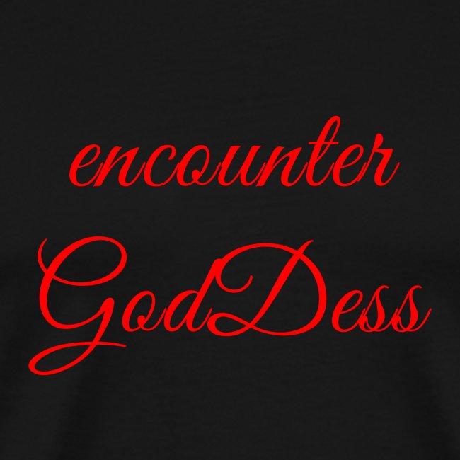 """inspi shirt-7.2: """"encounter GodDess"""" (red)"""