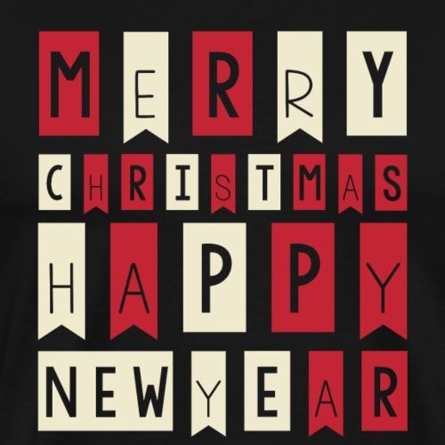 Merry Christmas Happy New Year T shirt for Gift - Men's Premium T-Shirt
